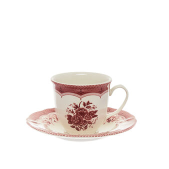 Victoria ceramic tea cup with floral decoration