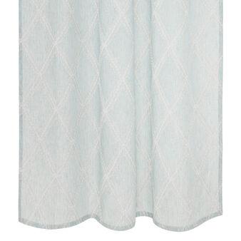 Curtain with raised diamond motif