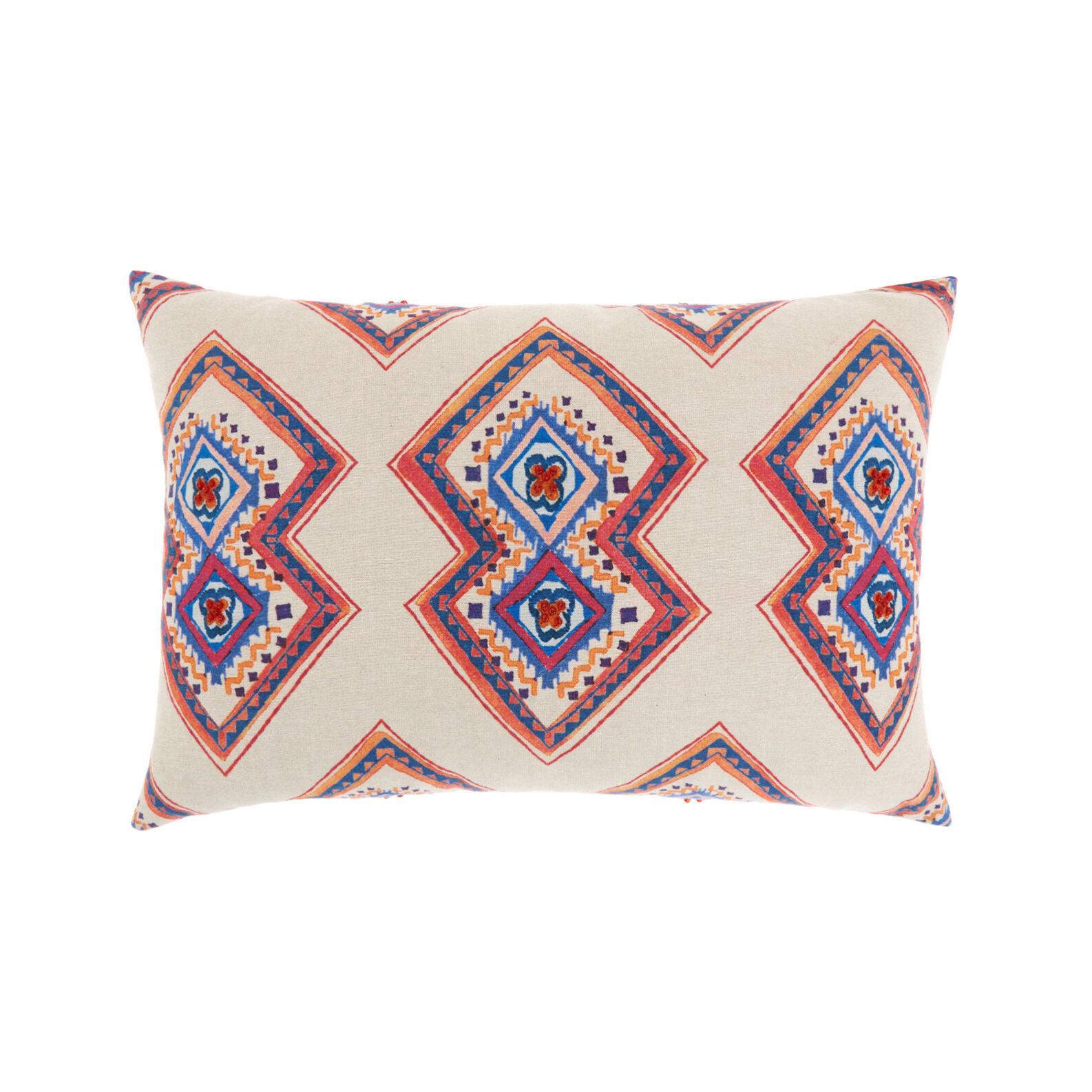 Cotton cushion with geometric print 35 x 50 cm