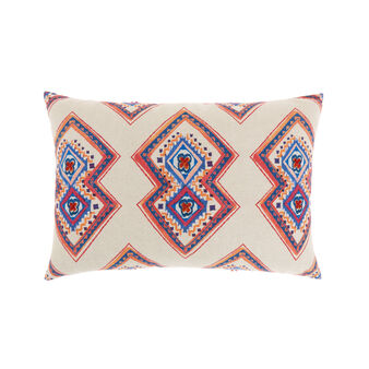 Cotton cushion with geometric print 35 x 50 cm