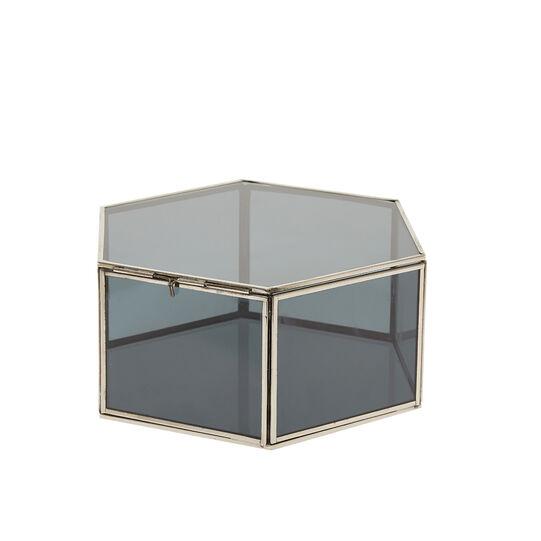 Box portagioie in vetro e metallo