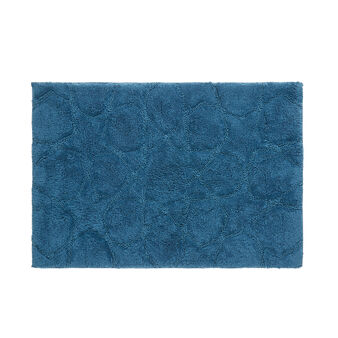 Cotton bath mat with star motif