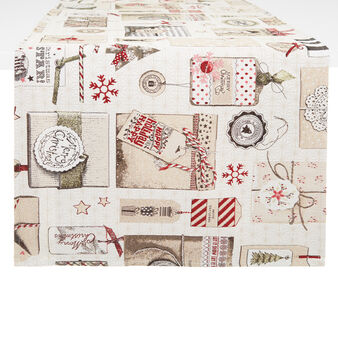 Christmas motif gobelin table runner