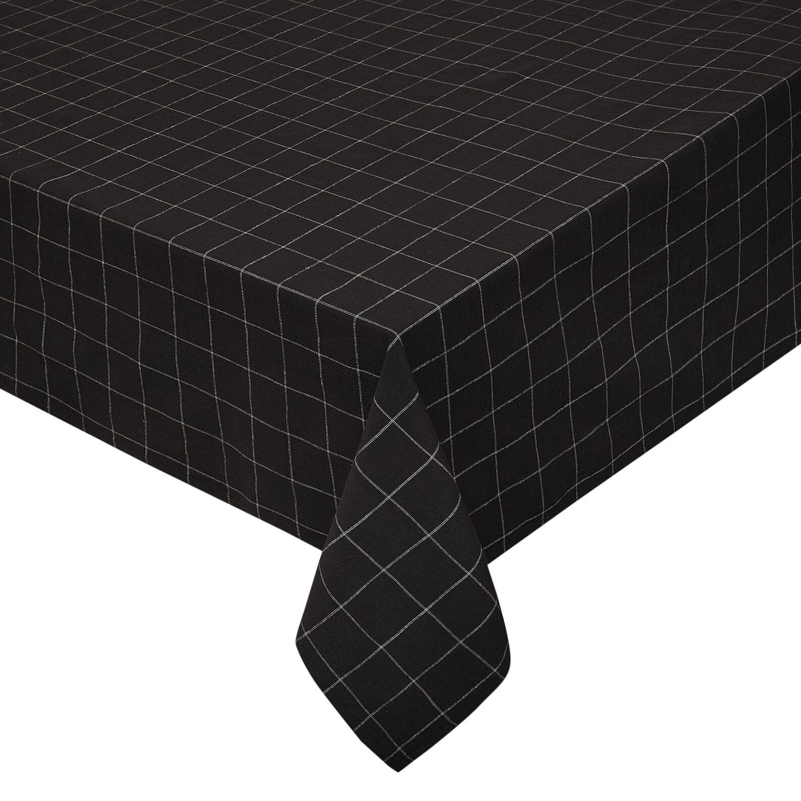 100% cotton check tablecloth
