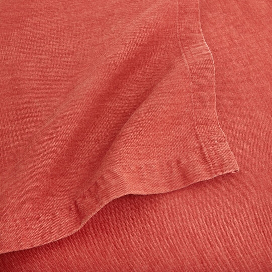 Solid colour washed cotton throw
