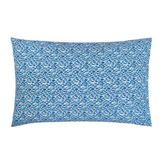 Cotton percale pillowcase with fish pattern
