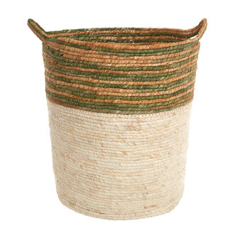 Handwoven corn leaf basket.