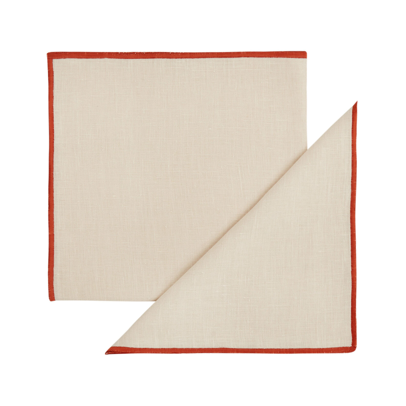 Set of 2 pure linen napkins