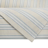 Yarn dyed, striped cotton duvet cover set