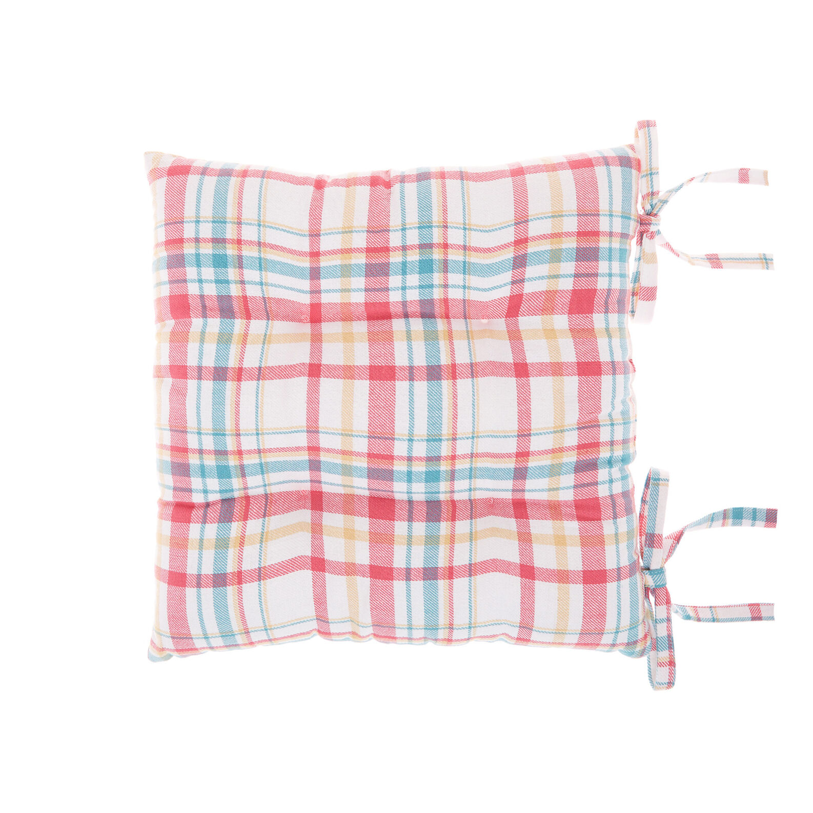 Cotton twill seat pad with Scottish design