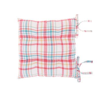 Cuscino da sedia twill di cotone motivo scozzese