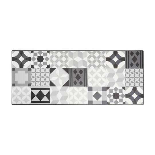 Vinyl kitchen mat with mosaic print