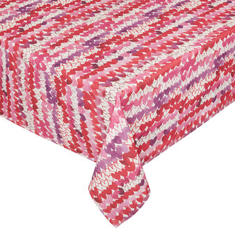 100% cotton tablecloth with Sandra Jacobs print