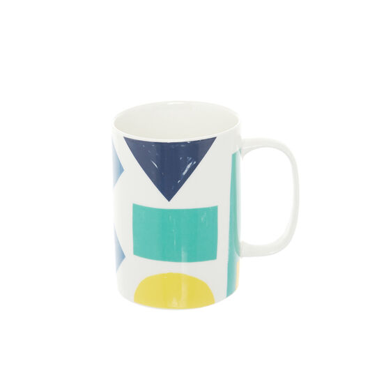 Mug in new bone China with Bauhaus motif