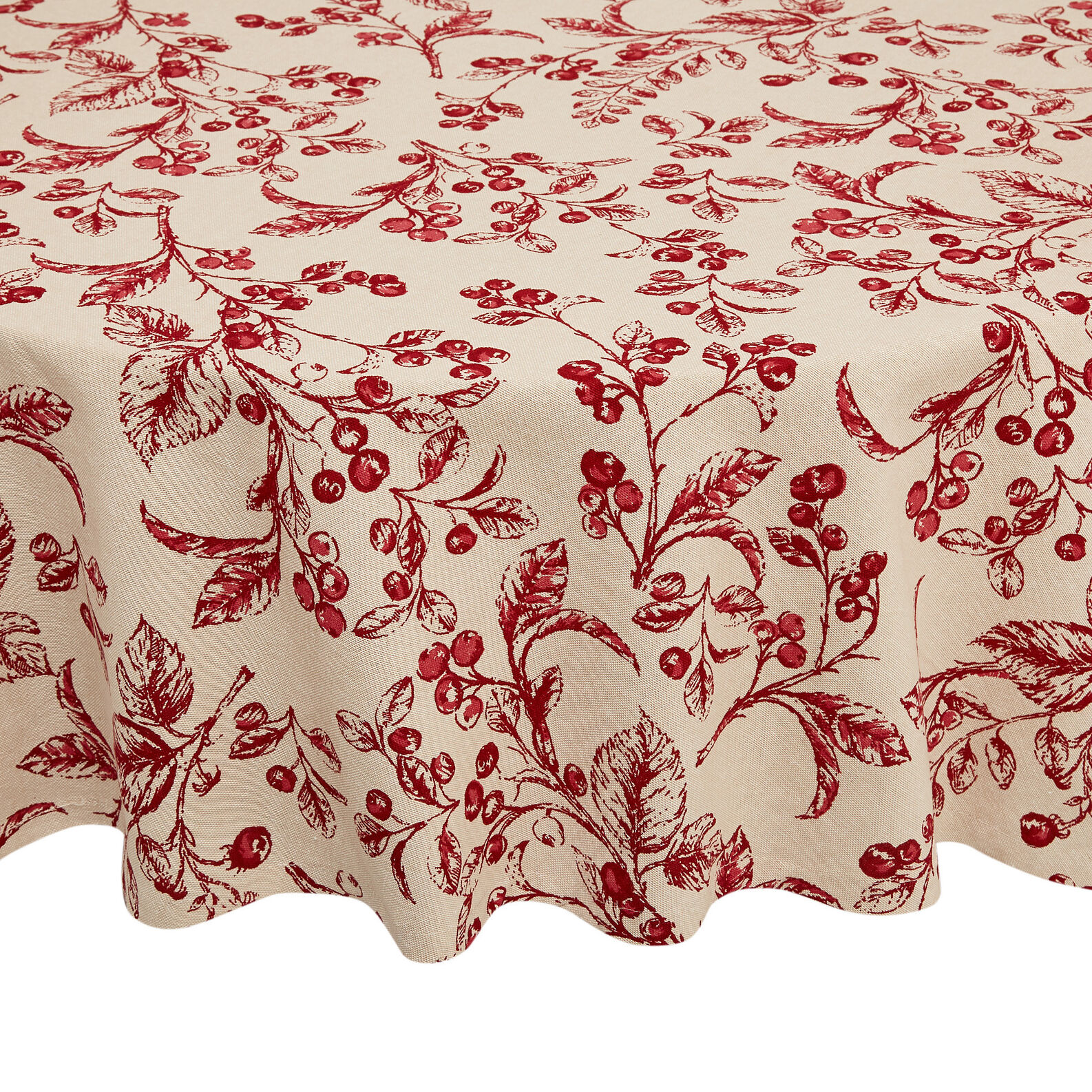 Round 100% cotton tablecloth with round peppers print