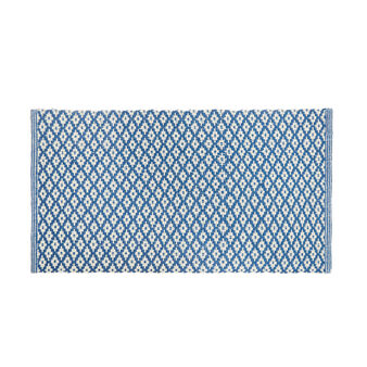Cotton kitchen mat with jacquard design