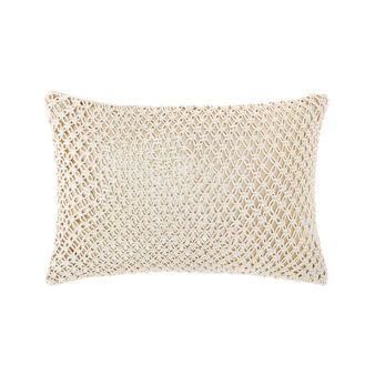 Cushion with rope decoration