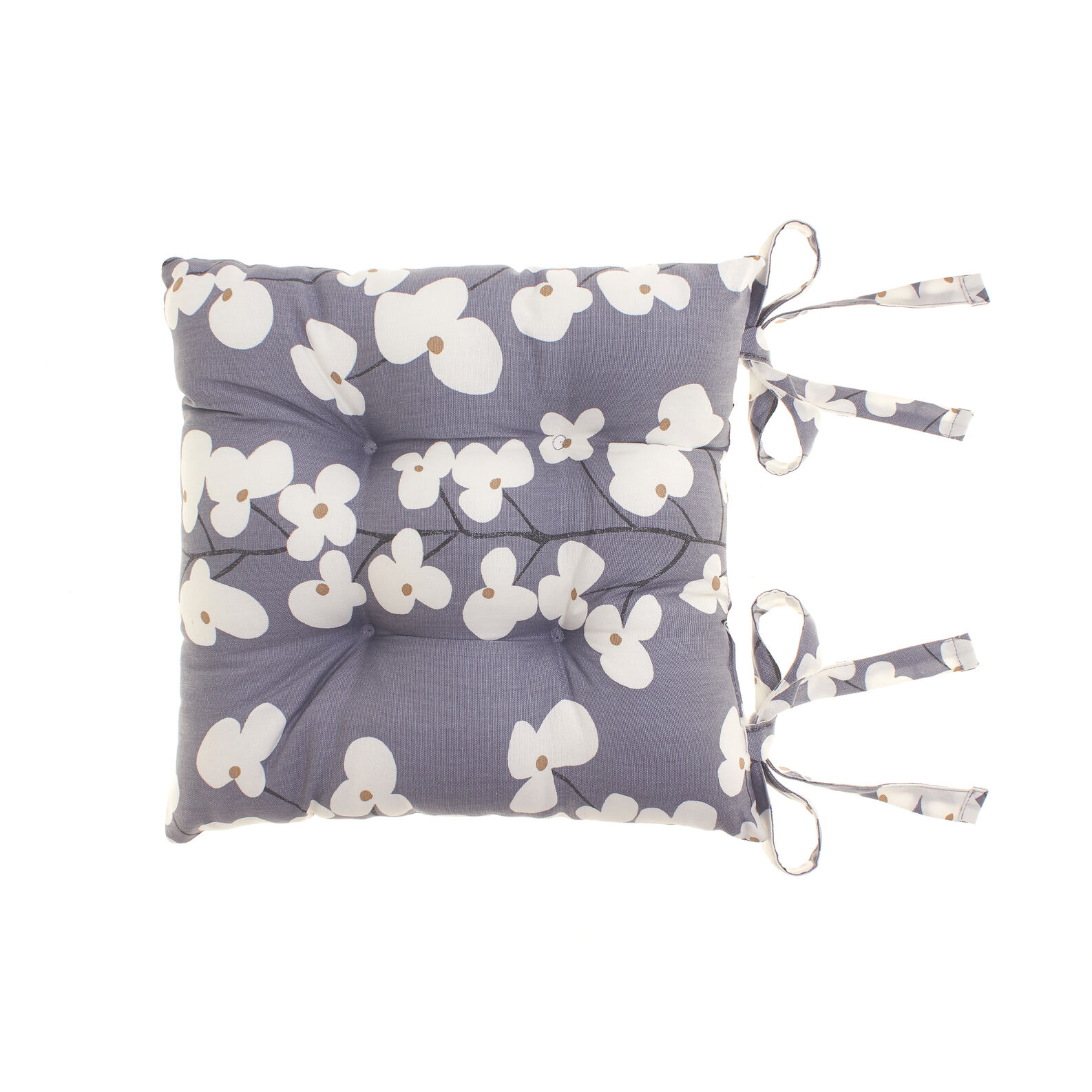100% cotton floral seat pad
