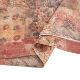 Duvet cover in washed linen with patchwork pattern