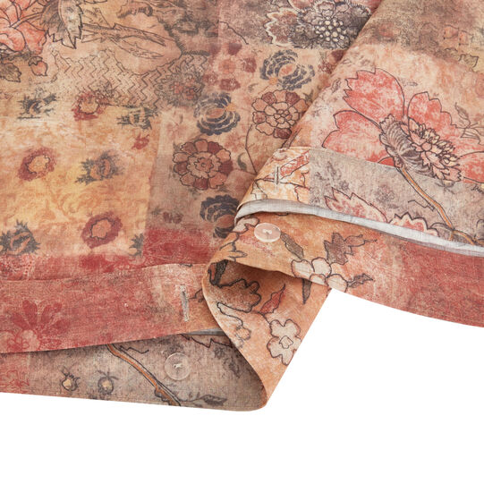 Copripiumino lino lavato fantasia patchwork