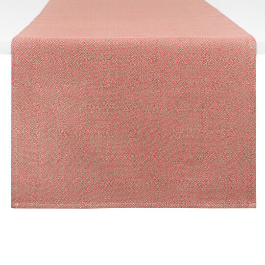 Table runner in 100% cotton with zigzag motif