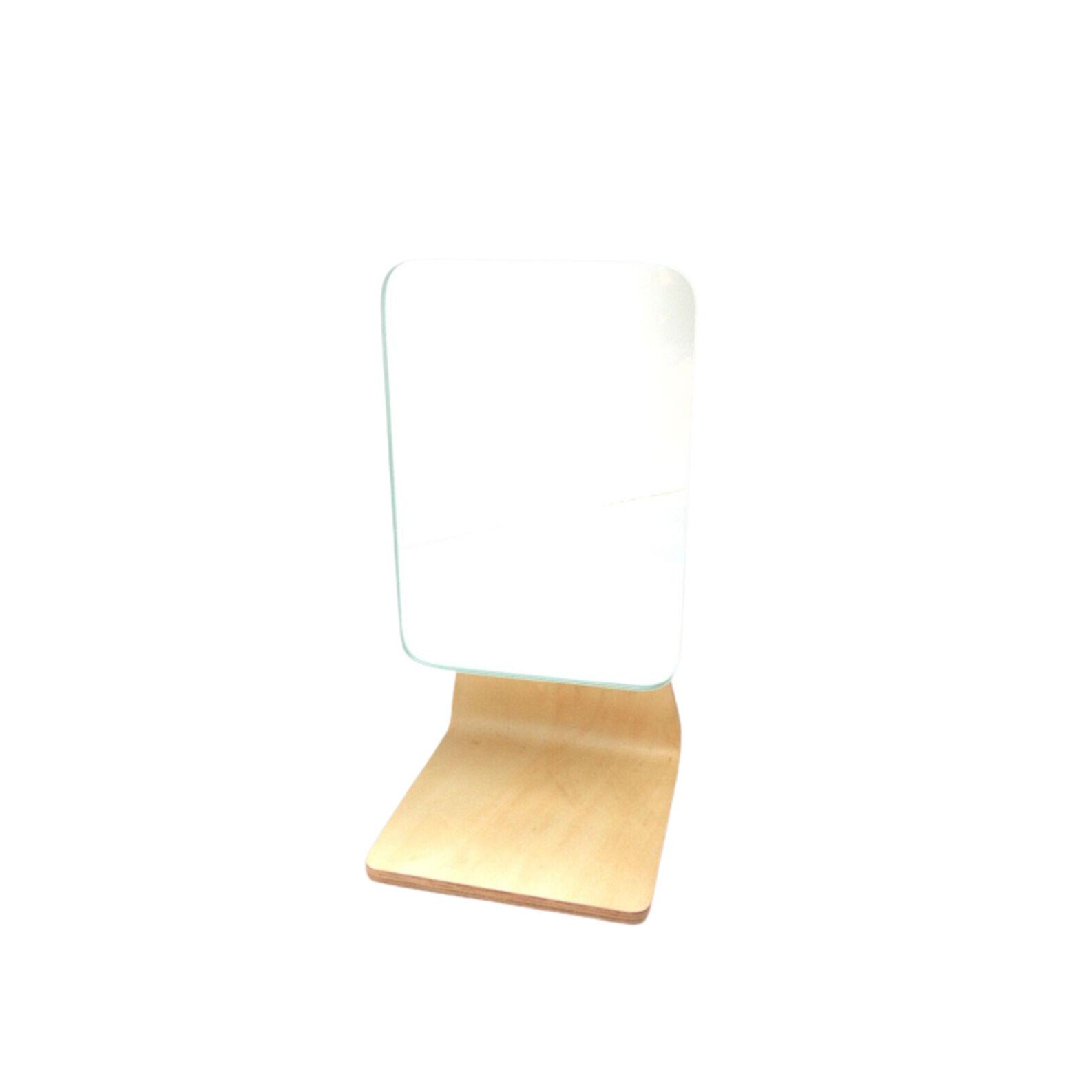 Bamboo base bathroom mirror