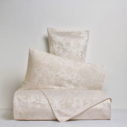 Portofino rose flat sheet in 100% cotton percale