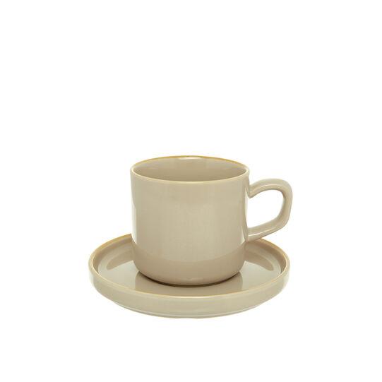 Solid colour stoneware teacup