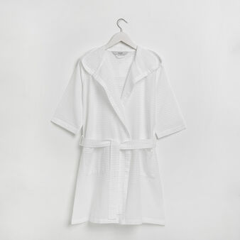 Short striped robe