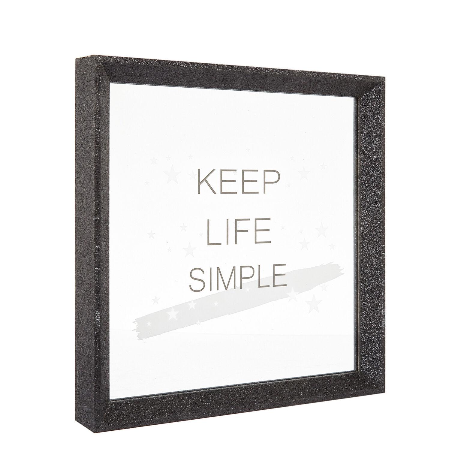 Portafoto Keep Life Simple con paillettes