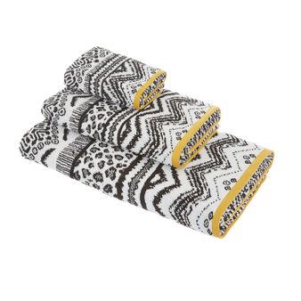 Asciugamano spugna di cotone motivo animalier