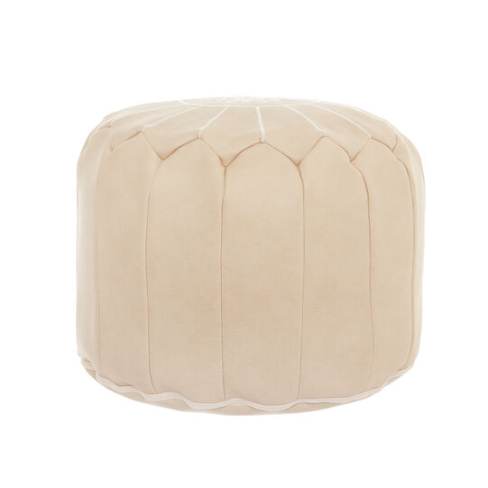 Pouf in similpelle con ricamo