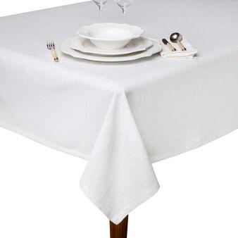 Plain cotton slub table cloth