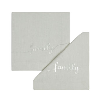 Set of 2 Family napkins in 100% cotton