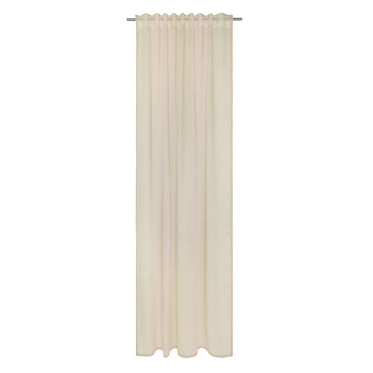 Soft-touch viscose blend curtain with concealed loops