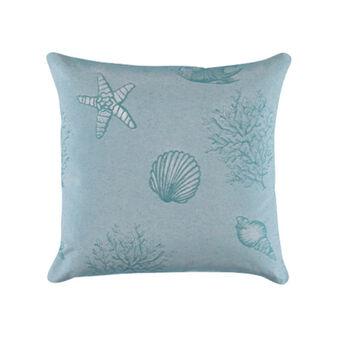 100% cotton jacquard cushion with marine pattern