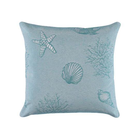 Cuscino puro cotone jacquard fantasia marina