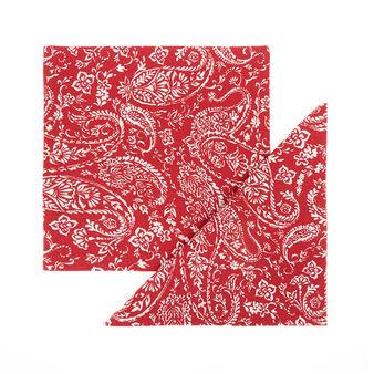 Set 4 tovaglioli puro cotone stampa paisley