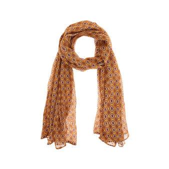 Ethnic print viscose scarf