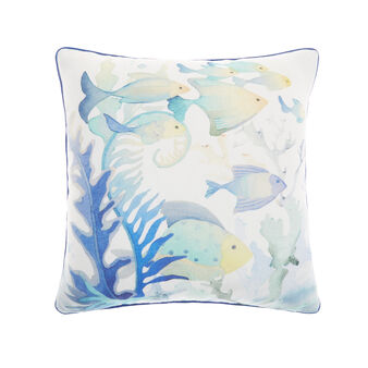Cushion with fish print