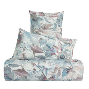 Duvet cover set in 100% cotton with ice flowers pattern
