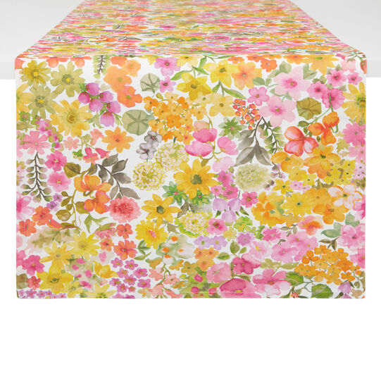 100% cotton table runner with small flowers print