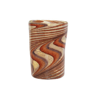 Murano glass tumbler with spiral decoration