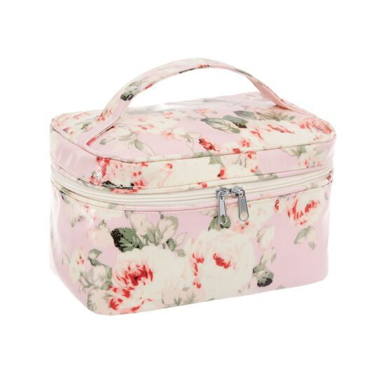 Beauty case with rose decoration