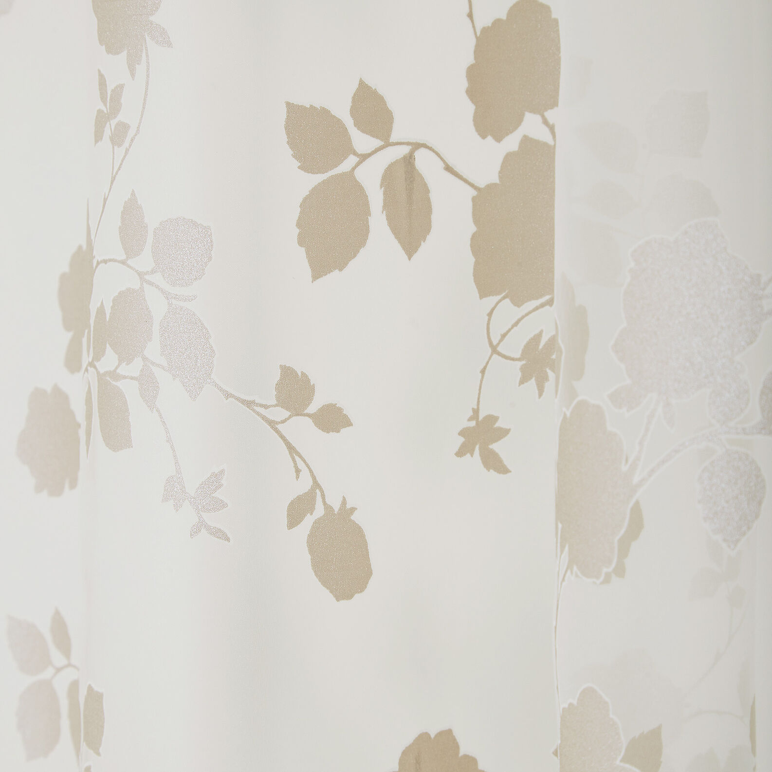 Viscose curtain with flower motif and hidden tabs