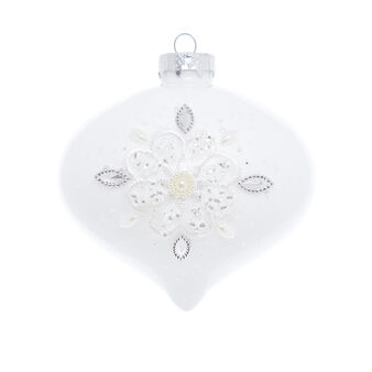 Hand-decorated onion bauble with lace and diamantés
