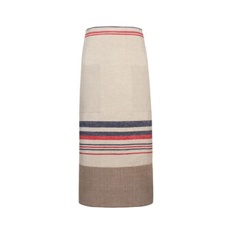 100% linen apron with stripes
