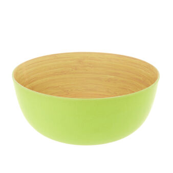 Green bamboo salad bowl