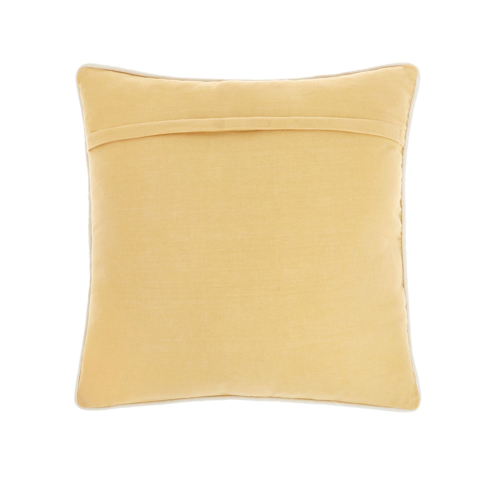 Cotton cushion with shell embroidery 45x45cm