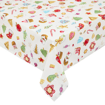Cotton twill tablecloth with Christmas print by Sandra Jacobs design